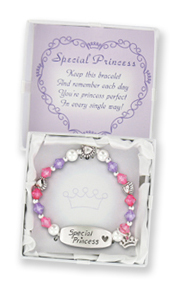 Special Angel Children's Stretch Charm Bracelet w/ Gift Box