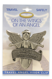 DAD Father Travel Guardian Angel Visor Clip