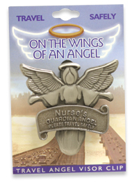 NURSE RN LPN Travel Guardian Angel Visor Clip