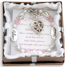 BELIEVE COURAGE STRENGTH Expressively Yours Bracelet