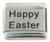 Laser HAPPY EASTER Italian Charm