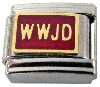 WWJD Italian Charm - Available in Black or Red!