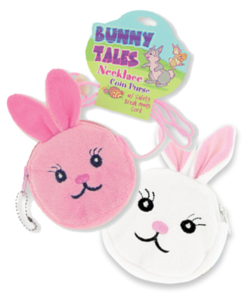 Easter Bunny Tales Necklace Coin PURSE w/ Safety Breakaway Cord