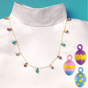 "Decorate Yourself 30"" EASTER EGG Charm Necklace"