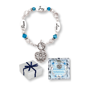 Peace Joy Love BLUE HOLIDAY Expressively Yours Bracelet