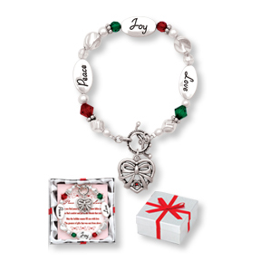 Peace Joy Love RED & GREEN CHRISTMAS Expressively Yours Bracelet