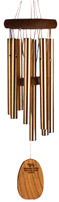 Woodstock Gregorian Soprano Windchime:  Cherry Wood, Champagne Tubes, Made in USA