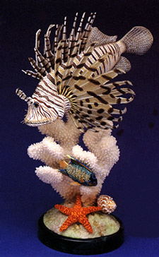 Butterfly Fin Lionfish Collectible Set by Nature Crafts