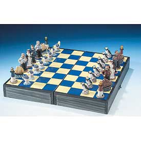 Nautical Chess Set with Seagull Pawns
