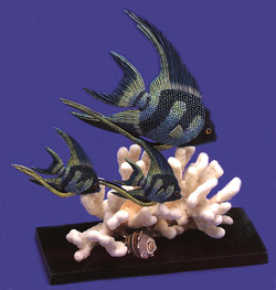 Longfin Scalare Collectible Set by Nature Crafts
