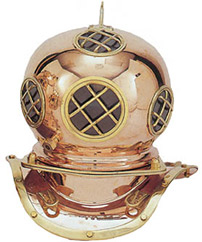 Small Reproduction Diving Helmet