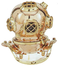 Small Reproduction Diving Helmet.