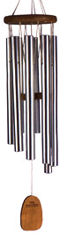 Gregorian Alto wind chime by Woodstock Chimes. Cherry Wood, Silver Tubes