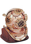 Wood Stand for Diving Helmet
