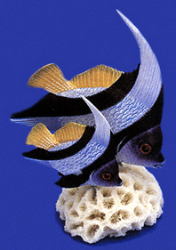 Heniochus Butterfly Fish Collectible by Nature Crafts