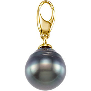 Tahitian Cultured Circle Pearl Charm - Click to enlarge