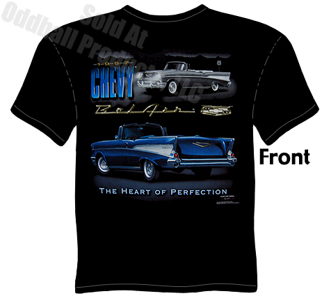 classic cars heart of perfection 1957 bel air t shirt. Black Bedroom Furniture Sets. Home Design Ideas