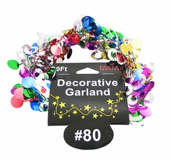 80th Garland Party Decoration