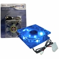 Masscool 120mm Sleeve Bearing DC Case Fan w/ 4 Blue LEDs