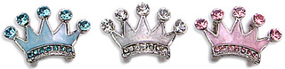 CROWN CHARMS IN ENAMEL & CRYSTAL FOR SLIDER COLLARS