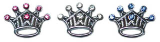 CROWN SLIDER CHARMS IN CRYSTAL FOR SLIDER COLLAR