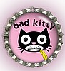 """BAD KITTY"" BOTTLE CAP PET ID TAG"