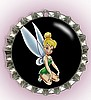 """TINKERBELLE IN BLACK"" BOTTLE CAP PET ID TAG"
