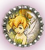 """HAPPY TINKERBELLE"" BOTTLE CAP PET ID TAG"