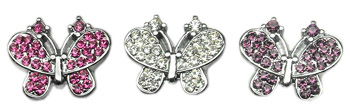 CRYSTAL BUTTERFLY CHARM FOR SLIDER COLLAR
