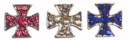 MALTESE CROSS -CRYSTAL-FOR SLIDER COLLAR