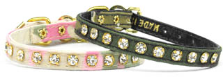 "CAMOUFLAGE CRYSTAL 3/8"" DOG COLLAR"