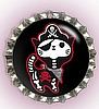 """BLACK PIRATE SKELE-KITTY"" BOTTLE CAP PET ID TAG"