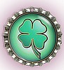"""FOUR LEAF CLOVER"" BOTTLE CAP PET ID TAG"