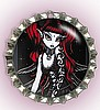 RED GOTHIC FAIRY BOTTLE CAP PET ID TAGS