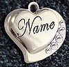 DOMED HEARTS PET ID - 2 SIDE ENGRAVE - 5 COLORS