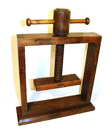 Antique American Walnut BOOK PRESS