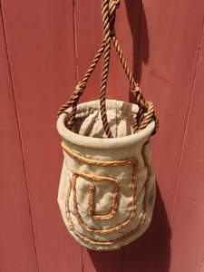 Antique Sailor Made Draw Bucket