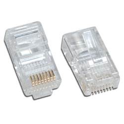 Network Ethernet Cable Modular Plug for Solid wire 10 Pack