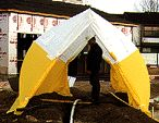PELSUE 6416A TRENCH TENT W/ CARRY CASE, 16' X 30' X 10.5' HIGH NEW