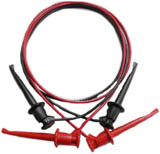 BLACK MINI-GRABBER TO MINI-GRABBER CORD 4'  NEW
