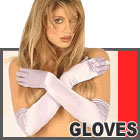 Lace and Satin Gloves