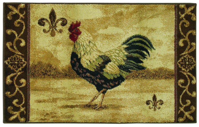 Shaw Beige 3x5 Rooster Country Kitchen Scroll Area Rug Approx 2 39 6 X 4 39 2 Ebay