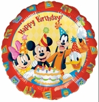 "17"" Mickey & Friends Birthday Helium Savers Balloon"