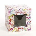 Cube Box: Open Colored Hearts