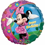 "17"" Minnie Happy Birthday Helium Savers Balloon"