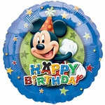 "17"" Mickey Birthday Stars Helium Savers Balloon"
