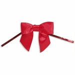 "2.5"" Red Satin Bow with Twist Tie"