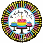 "18"" Birthday Cupcakes & Candles Balloon"