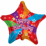 "18"" Happy Birthday Colors Balloon"