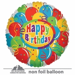 "18"" Balloons & Confetti Birthday Clear View Balloon"